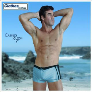 James Bond Swim Shorts - Modern Hipster Snug Fit